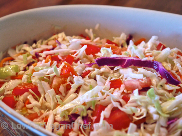 ... Best Fat Free Raw Vegan Cabbage Slaw Recipe   Green Living 365